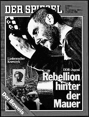 <br>Stephan Krawczyk auf dem Titelblatt des Spiegel Heft 5/1988